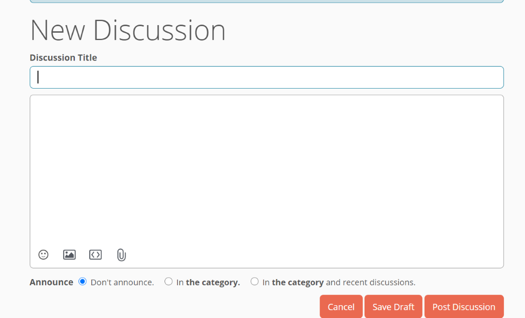 new discussion box example on the fairfax family forum