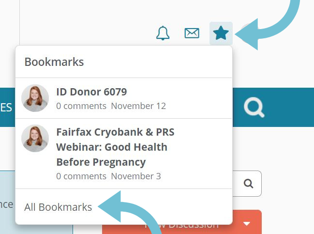 Location of bookmarked posts on fairfax family forum