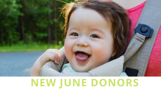 New Donors of June
