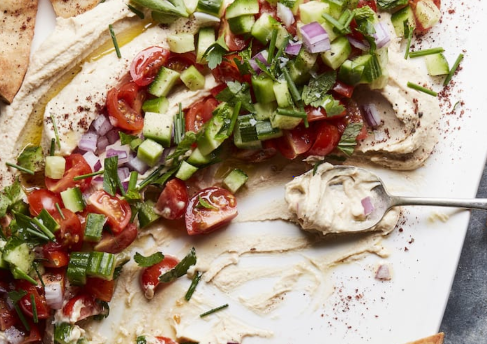 loaded summer hummus